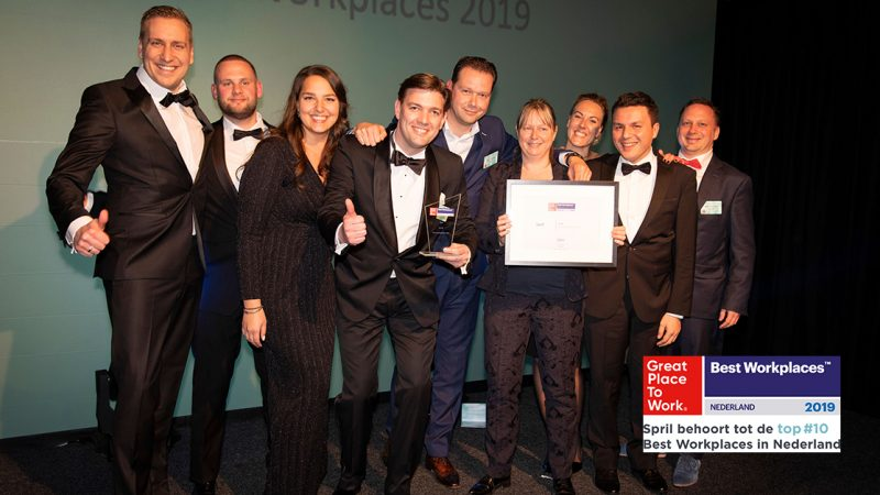 Spril behoort tot de top 10 Best Workplaces in Nederland